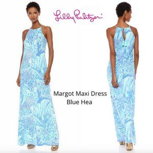Lilly Pulitzer MARGOT size M Maxi Dress NWOT blue